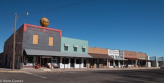 Vega, Texas - Downtown Vega