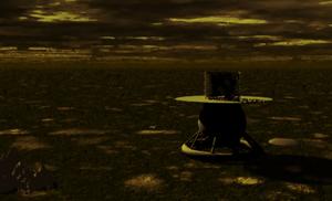 Venera 9 - Artist's conception of Venera 9 landed on Venus