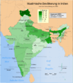 Verbreitung des Islam in Indien 2001.png