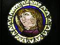 Vetrata con ritratto virile su cartone di ercole de' roberti, inv. 2496.JPG