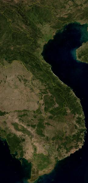 Satellitenbild Vietnam