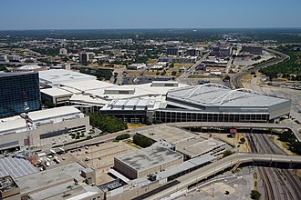 Kay Bailey Hutchison Convention Center - The Kay Bailey Hutchison Convention Center as viewed from Reunion Tower in August 2015
