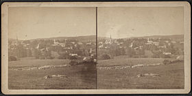 Vue de Watertown probablement entre 1870 et 1885.