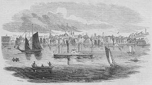 History of Portland, Maine - Portland from the harbor in 1853