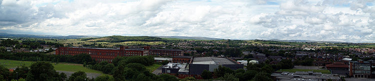A Panorama Of Royton In 2008 From The Church St Ann Looking Northwards