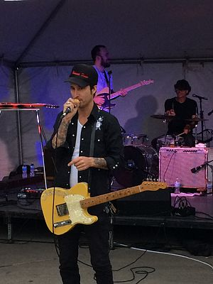 Vinnie Dombroski - Performing with The Orbitsuns at the 6th Annual Detroit Fall Beer Festival in Eastern Market, Detroit on October 24, 2014