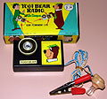 Vintage Yogi Bear Germanium Crystal Radio With Compass, Made In Japan, Copyright Hanna Barbera Productions, Inc., 1966 (14814888046).jpg