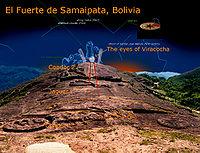 Vista del Fuerte de Samaipata y la roca tallada más grande del mundo