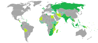 Maldivian passport - Countries and territories with visa-free entries or visas on arrival for holders of regular Maldivian passports