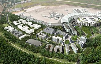 Airport city - Image: Visualisierung web