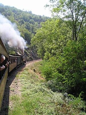 Chemin de fer du Vivarais - the train going to Lamastre