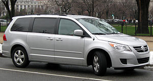 2009 Volkswagen Routan photographed in Washing...