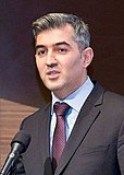 Vusal Huseynov delivering a speech.jpg