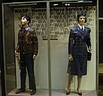 WASPs uniforms in the World War II Gallery at the National Museum of the U.S. Air Force.JPG