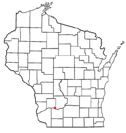 Location of Lone Rock, Wisconsin