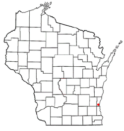 Location of Thiensville, Wisconsin
