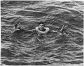 """WWII, Europw, Germany, """"German POWs - German yells for help after his submarine is sunk in the Atlantic by U.S. Coast... - NARA - 195468.tif"""