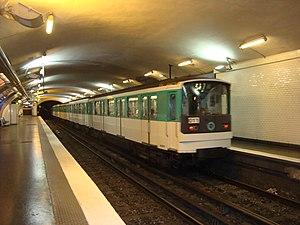 Wagram (Paris Métro) - Image: Wagram ramepart