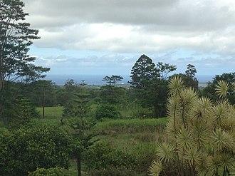 Waiākea-Uka - Hilo Bay from Hoaka Road in Waiakea-Uka.