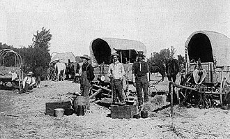 Land Run of 1893 - Settlers await the opening of the Cherokee Outlet.