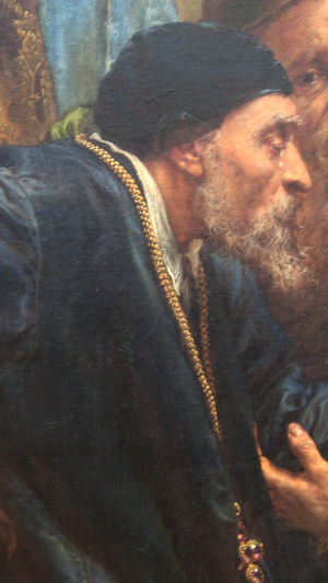 Walerian Protasewicz - Protasewicz depicted in Jan Matejko's painting of the Union of Lublin (detail).