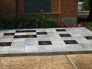 Delta Music Museum - The Delta Music Museum Walk of Fame outside the museum building