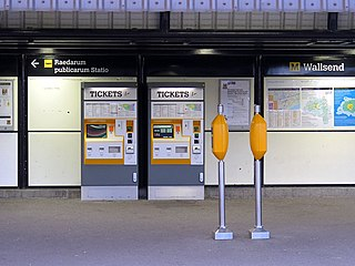 Wallsend Metro station Tyne and Wear Metro station in North Tyneside