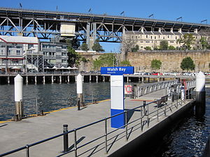 Dawes Point, New South Wales - Image: Walsh Bay ferry wharf 2
