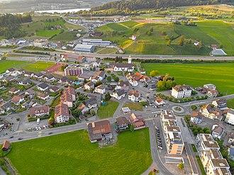 Wangen, Schwyz - Image: Wangen SZ Dorfkern Sommer 2018