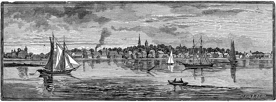 Warren Rhode Island 1886 engraving