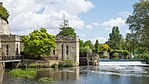 Warwick Castle - Engine House, Waterwheel, Weir, and Old Castle Bridge.jpg