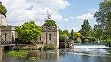 Warwick Castle - Engine House, Waterwheel, Weir, and Old Castle Bridge.jpg