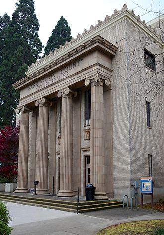 Washington County, Oregon - The Washington County Courthouse in Hillsboro