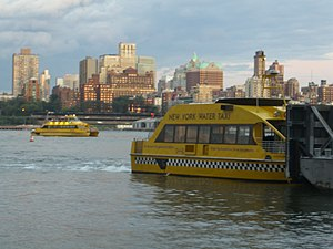 English: New York Water Taxis serving the IKEA...