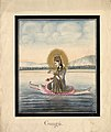 Watercolour painting on paper of Gaṅgā, the personification of the sacred river Ganges.jpg