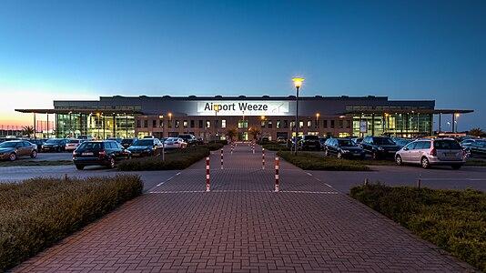 Terminal building of the airport, Weeze, North Rhine-Westphalia, Germany