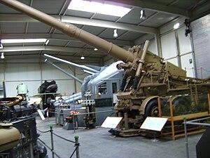 24 cm Kanone 3 - A K 3 in the Wehrtechnische Studiensammlung Koblenz