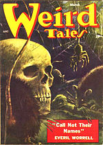 Weird Tales cover image for March 1954