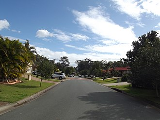 Wellington Point, Queensland - Residential street in Wellington Point