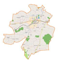 Mapa lokalizacyjna gminy Werbkowice
