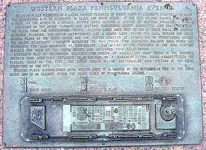 Freedom Plaza - Western Plaza plaque (2006)