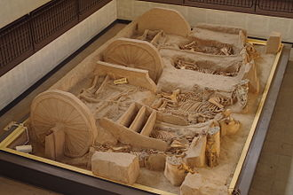 Xi'an - Remains of carriages and horses in Fenghao of the Western Zhou period (1046–771 BC)