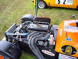 Westfield Sportscars - Image: Westfield race engine at Stoneleigh 2008