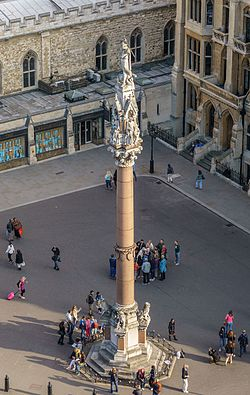 Westminster Scholars War Memorial - viewed from the dome on Methodist Central Hall.jpg