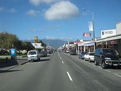 Vue de Westport, la capitale du quartier