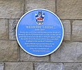 Wetherby Castle - Castle Gate - Blue Plaque - geograph.org.uk - 553359.jpg