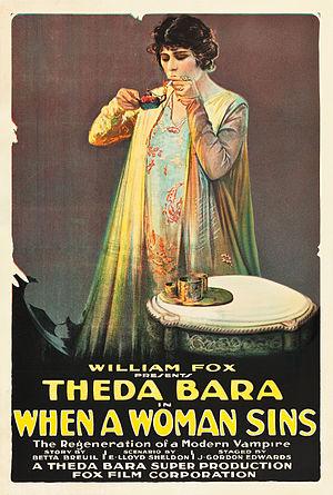When a Woman Sins - Film poster (1918)
