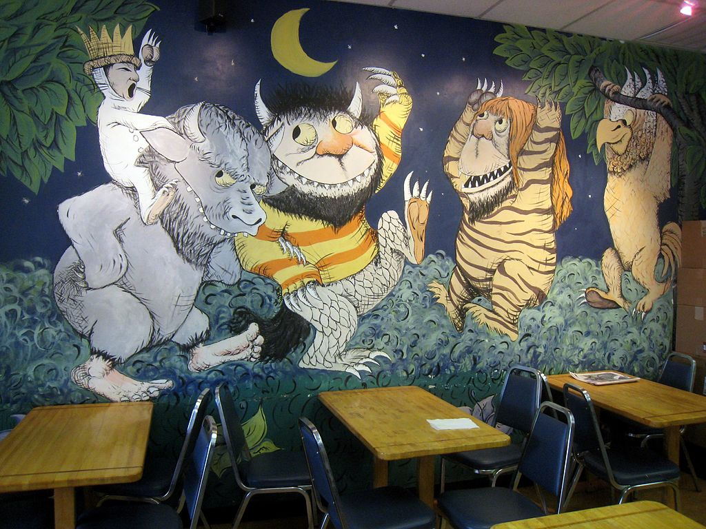 File Where The Wild Things Are Mural In Austin Tx Jpg Wikimedia