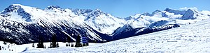 Panorama of the Whistler Blackcomb resort, the...