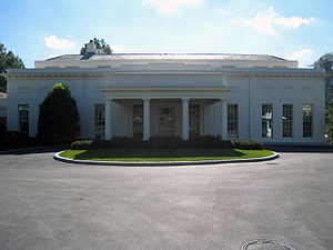 West Wing - The main entrance on the north side.